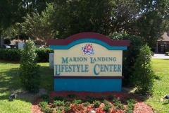 Marion Landing clubhouse sign