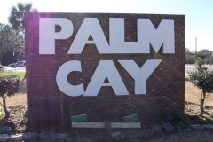 Palm Cay sign