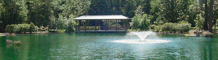 Pond at Shalom Park in Ocala Florida
